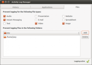 cancellare e disabilitare la cronologia file recenti su linux