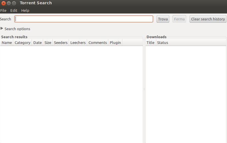 come fare ricerche di torrent per scaricare files con linux