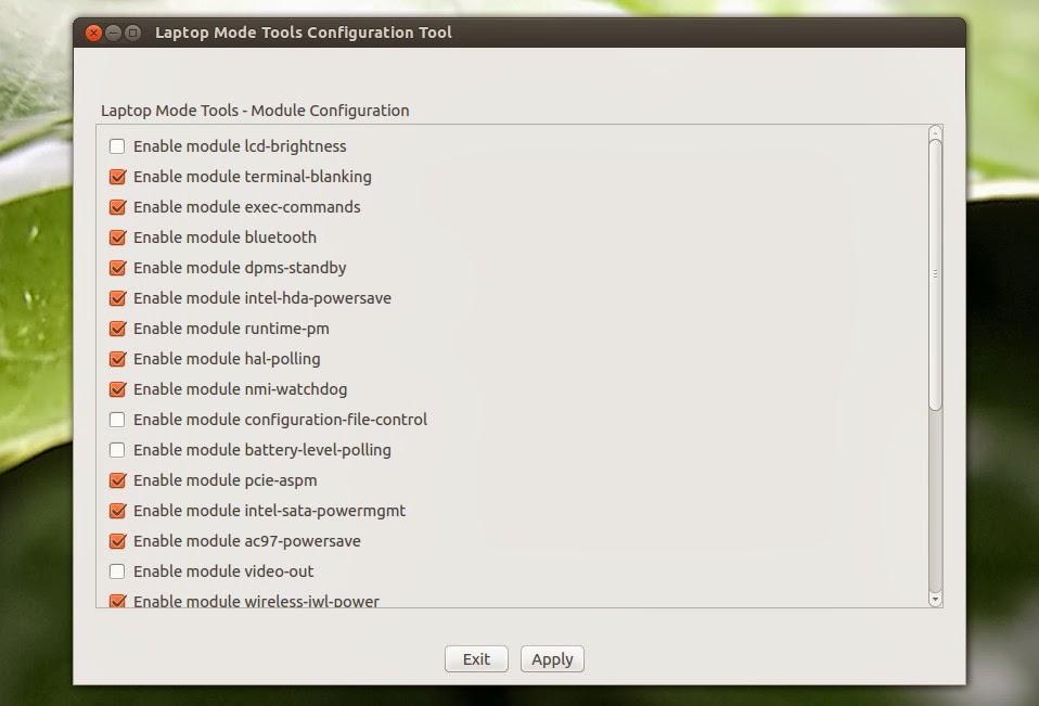 Come aumentare la durata della batteria del portatile con Ubuntu: Laptop Mode Tools
