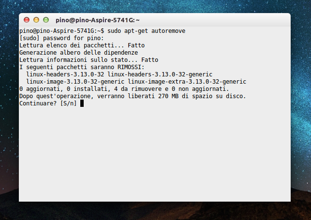 come liberare spazio boot linux